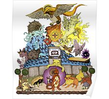 twitch plays pokemon red; the adventure remains! (color)  Poster