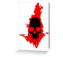 Flaming Vampire Skull Greeting Card