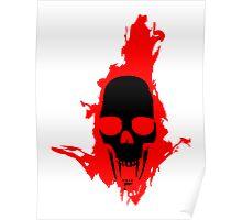 Flaming Vampire Skull Poster