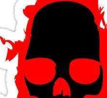 Flaming Vampire Skull Sticker