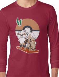 Pokemon Growlithe & Arcanine Long Sleeve T-Shirt