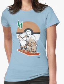Pokemon Growlithe & Arcanine Womens Fitted T-Shirt