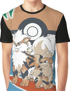 Pokemon Growlithe & Arcanine Graphic T-Shirt