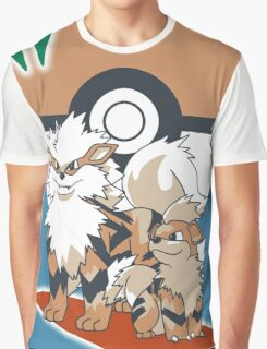 Pokemon Growlithe & Arcanine Graphic T-Shirt