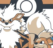 Pokemon Growlithe & Arcanine Sticker