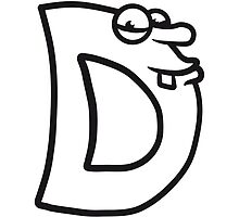Letter D comic face funny monsters by Style-O-Mat