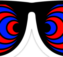 Trippy 3d Glasses Sticker