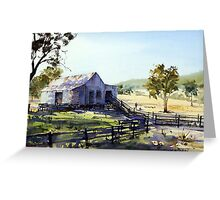 Farm Shed - Morning Light and Shadows Greeting Card