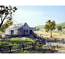 Farm Shed - Morning Light and Shadows Photographic Print
