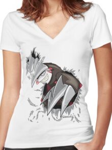 Excadrill Strikes! Women's Fitted V-Neck T-Shirt