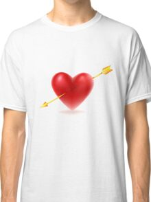Vector illustration of Red heart shape Classic T-Shirt