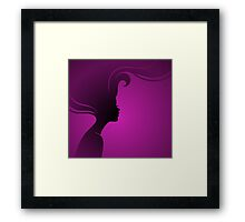 Vector illustration of Beautiful woman Framed Print