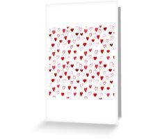 Watercolor Hearts pattern Greeting Card