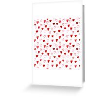 Watercolor Hearts pattern Greeting Card