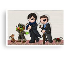 Sherlockian Evolution Canvas Print