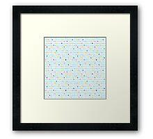 Rain pattern Framed Print