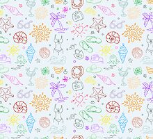 Doodle travel pattern by SonneOn