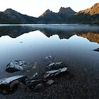 Morning Mist - Dove Lake  by Barbara Burkhardt