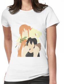 Sword Art Online Kirito and Asuna Womens Fitted T-Shirt