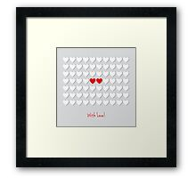 with hearts Framed Print