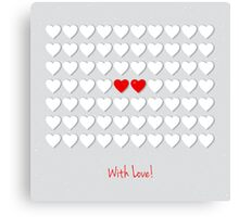 with hearts Canvas Print