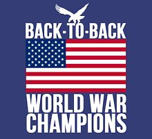 Distressed U.S. Flag & Eagle World War Champs Unisex T-Shirt