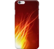 Fire glow background iPhone Case/Skin