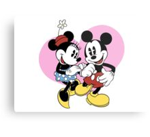 minnie and mickey mouse Metal Print