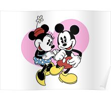 minnie and mickey mouse Poster