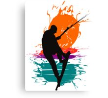 Kite Surfing Canvas Print