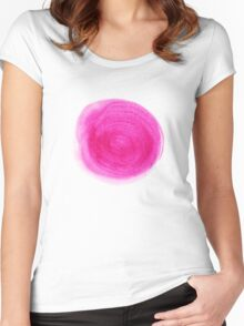 Watercolor design Women's Fitted Scoop T-Shirt