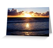Sunet & Water Greeting Card