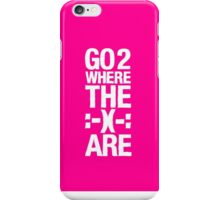 Go 2 Where The Smiles Are :-) : Pink Phone Cover iPhone Case/Skin