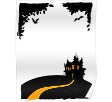 Happy halloween card with castle Poster