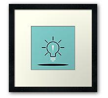 Idea ! Framed Print