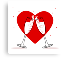 Two Glasses of champagne Canvas Print