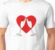 Two Glasses of champagne Unisex T-Shirt