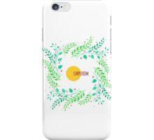 Watercolor floral design iPhone Case/Skin