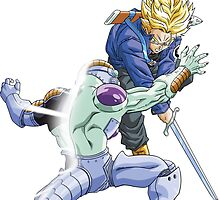 Trunks Cuts Frieza In Half by Timanator3000