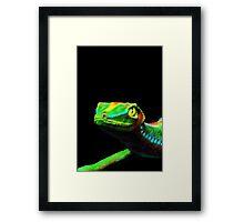 Gecko Lizard Close up 3d digital Art Framed Print