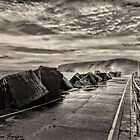 Sea Wall B/W by wallarooimages