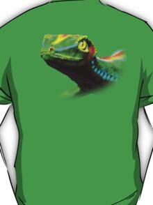 Gecko Lizard Close up 3d digital Art T-Shirt