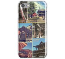 Nara Japan Horyu-ji Temple World Heritage Site Collage iPhone Case/Skin