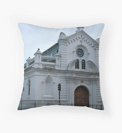 White Church in Cuenca Throw Pillow