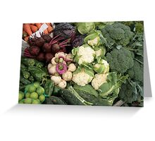 Fresh Vegetables at the Market Greeting Card