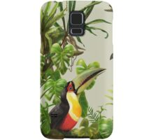Toucans and bromeliads - canvas background Samsung Galaxy Case/Skin