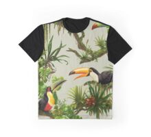 Toucans and bromeliads - canvas background Graphic T-Shirt