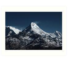 Fish tale Mountain. The himalayas Art Print