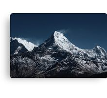 Fish tale Mountain. The himalayas Canvas Print