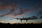 Lancasters taking off at sunset by Gary Eason + Flight Artworks